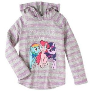 MY LITTLE PONY THIN HOODIE SIZE M 7/8